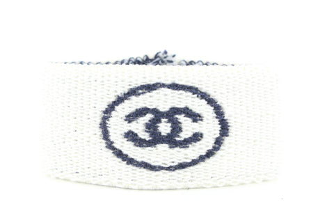 Chanel White x Navy Gym Bracelet Sweat Band 667ccs317