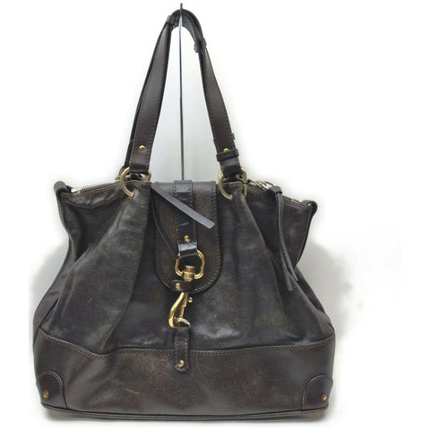 Chloé Dark Brown Leather Kerala Shoulder Bag 862271