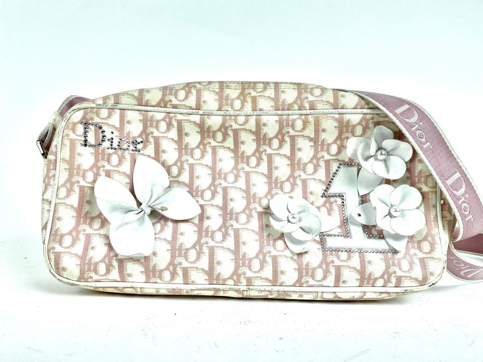Dior  Girly Chic Floral No. 1 Pink Crossbody Monogram Trotter 23dior610