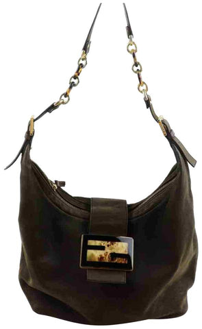 Fendi Brown Forever Mama Chain Hobo 8BR643 857978