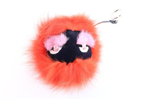 Fendi Monster Bug Eye Fox Fur Ball Keychain and Bag Charm 1FR0423