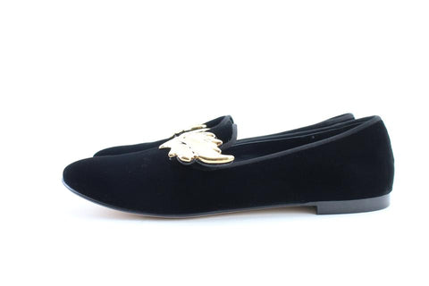 Giuseppe Zanotti Dalila Gold Wing Velvet Loafer Slippers Loafers Flats 41 8MR0214