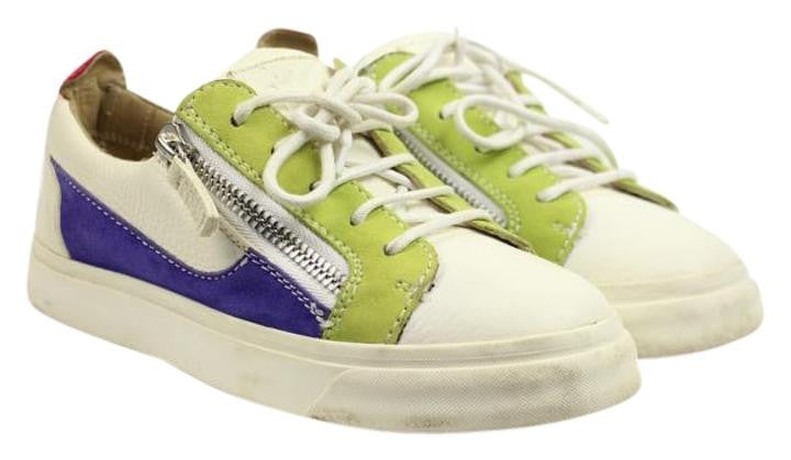 Giuseppe Zanotti Multi-color Low Top Sneakers Size 35.5 Gzsty07 White Purple Green Athletic