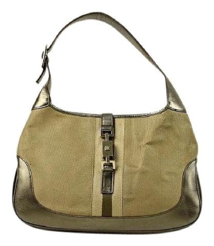 Gucci Olive x Gold Jackie-O Hobo Ggtl859 Shoulder Bag