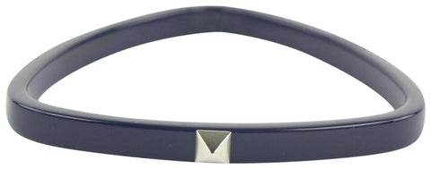 Hermès Navy Idylle Triangle Bangle Bracelet 43hz1009