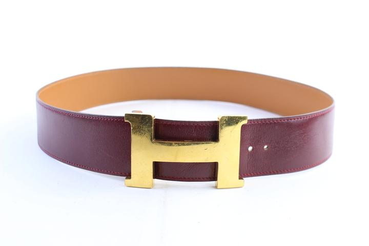 Hermès Bordeaux X Gold 42mm H Logo 25hr0307 Belt
