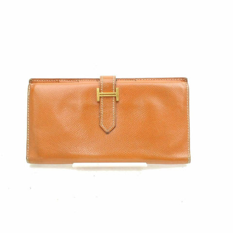 Hermès Brown Epsom Bearn Bifold Flap H Wallet 868900
