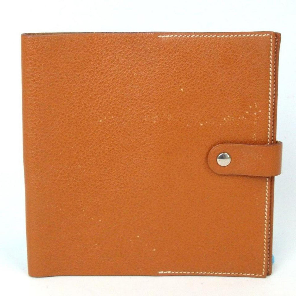 Hermès Brown Leather Notebook Cover 867842