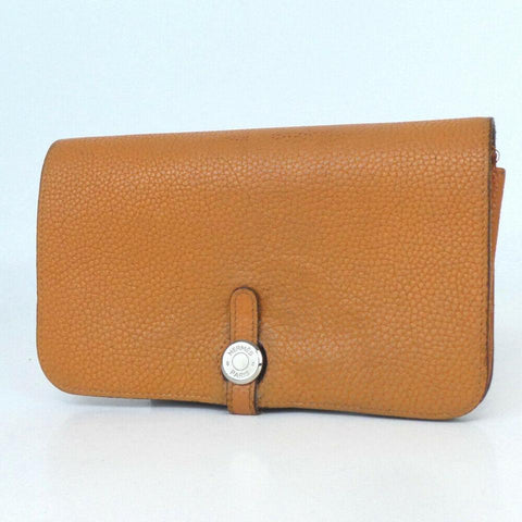 Hermes Dogon Wallet Brown Leather Long Wallet 860019