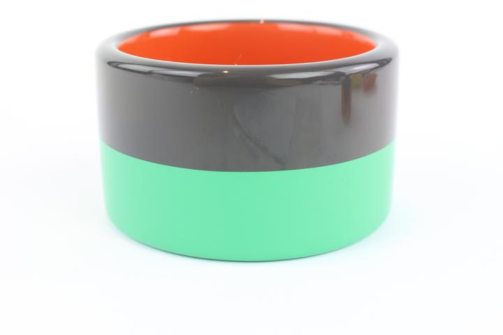 Hermès Multicolor Charcoal and Mint Green 3 Colombo Bangle 11hz1009 Bracelet