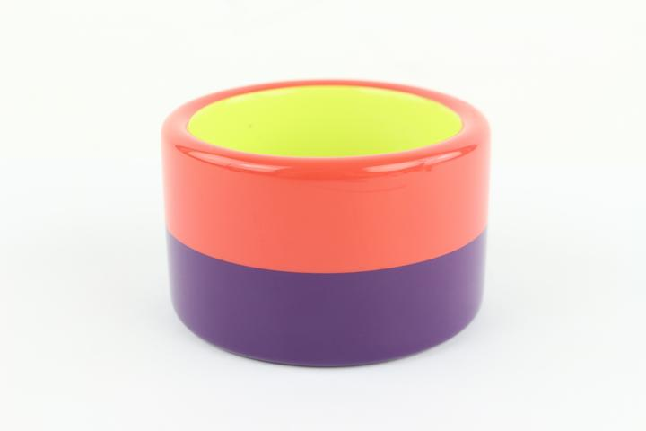 Hermès Multicolor Coral and Purple Colombo 3 Enamel Bangle 52hz1009 Bracelet