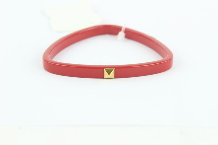 Hermès Red And Gold Idylle Triangle Bangle 40hz1009 Bracelet