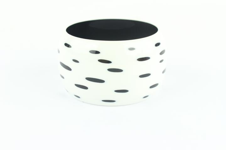 Hermès White And Black Ultra Extra Wide Bangle 55hz1009 Bracelet
