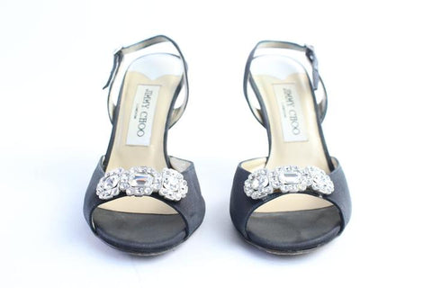 Jimmy Choo Regal Jewel Stone Slingback Heels 42MR0515
