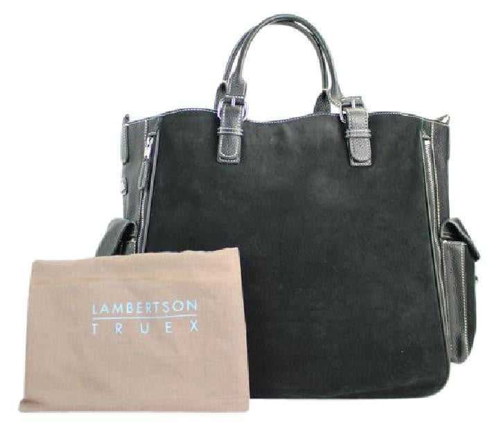 Lambertson Truex Expandable 2way Satchel 60misa13117 Black Tote Bag