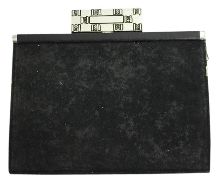 LISA JENKS Suede Ljlm1 Black Clutch