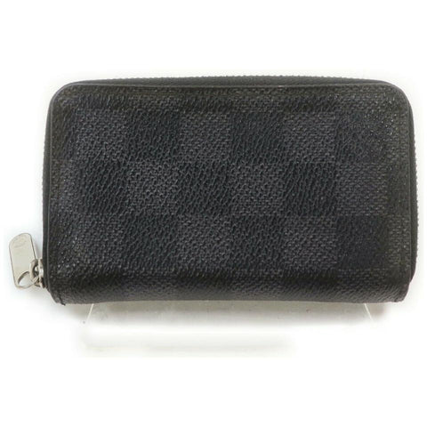 Louis Vuitton Damier Graphite Zippy Coin Wallet Zip Around Compact 861772
