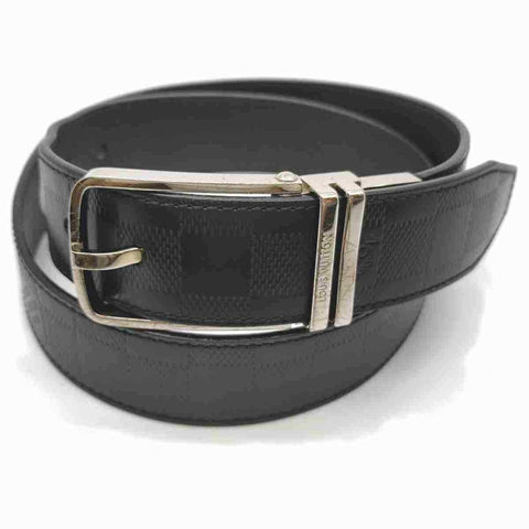 Louis Vuitton Black Damier Infini Leath Belt Ceinture Boston Reversible 85/34 860636