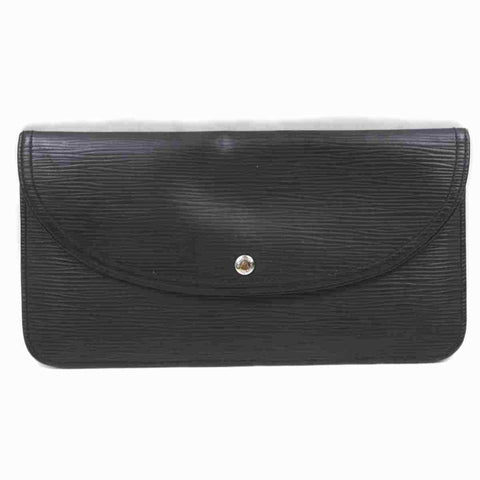 Louis Vuitton Black Epi Accessories Pouch Emilie Wallet 860366