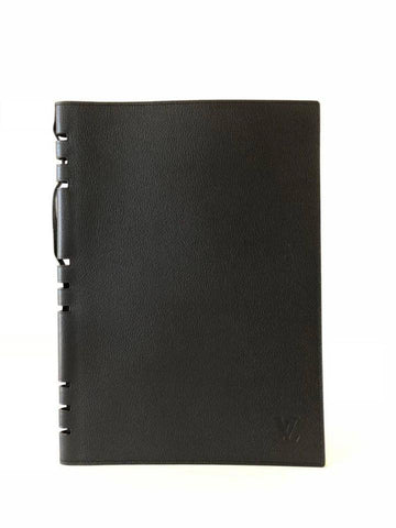 Louis Vuitton Large Black Leather Lady Handbook Cover GM 858119