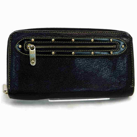 Louis Vuitton Black Suhali Zippy Wallet Long Continental Zip Around 867417