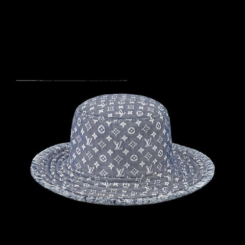 Louis Vuitton Monogram Denim Bucket Hat Bobbygram Cap Rare Jean Sun Visor 860399M
