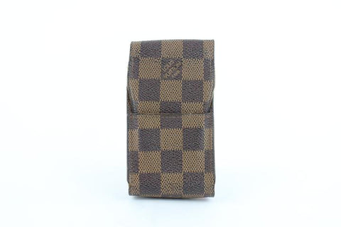 Louis Vuitton Damier Ebene Mobile Etui Cigarette or Phone Case 12lz1002