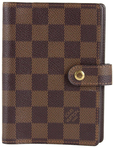 Louis Vuitton Damier Ebene Small Ring Agenda PM Diary Cover 5LVS1214