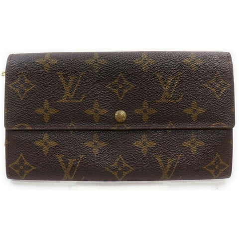 Louis Vuitton Monogram Long Sarah Wallet Porte Tresor  868586