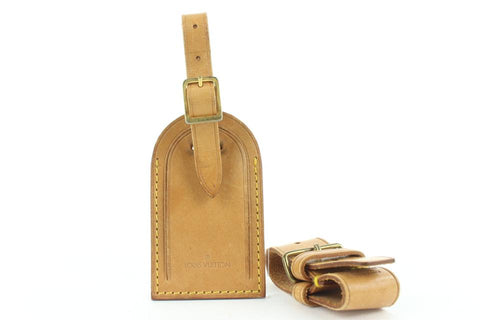 Louis Vuitton Vachetta Leather Luggage Tag and Poignet 150lvs25