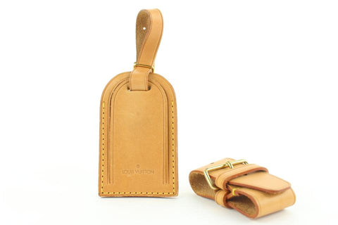 Louis Vuitton Vachetta Leather Luggage Tag and Poignet 151lvs25