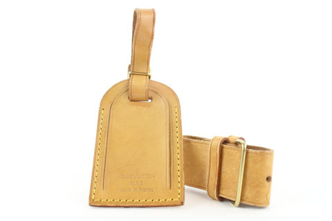 Louis Vuitton Vachetta Leather Luggage Tag and Poignet 154lvs25