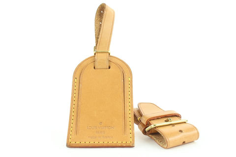 Louis Vuitton Vachetta Leather Luggage Tag and Poignet 155lvs25
