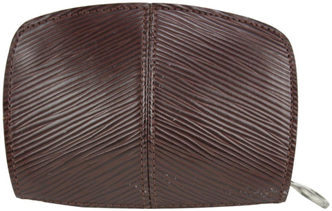 Louis Vuitton Moka Brown Epi Leather Demi Lune Zippy Coin Purse 14lvs1230
