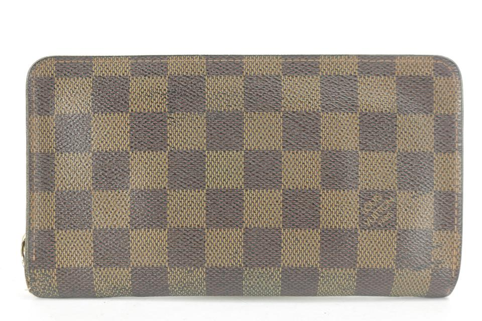 Louis Vuitton Damier Ebene Zippy Wallet Zip Around Long 6LK1210