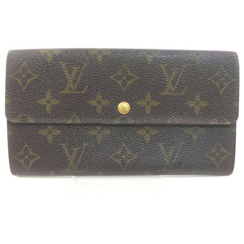 Louis Vuitton Monogram Long Sarah Wallet Pochette Monnaie Credit 862263