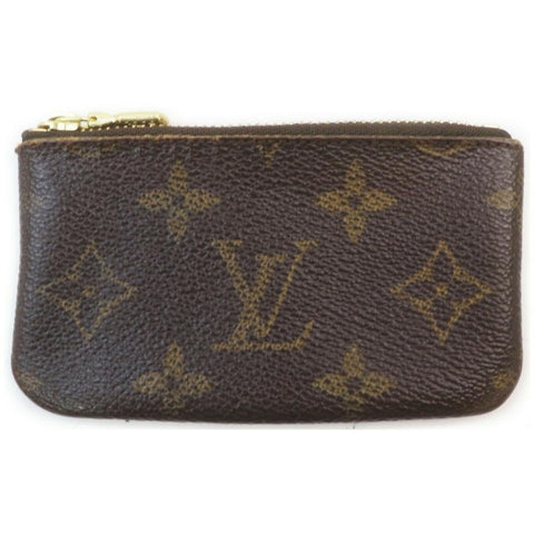 Louis Vuitton Well Worn Monogram Key Pouch Pochette Cles Keychain 861779