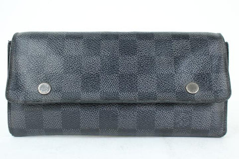 Louis Vuitton DAMIER GRAPHITE MODULABLE Long WALLET 95LJ3