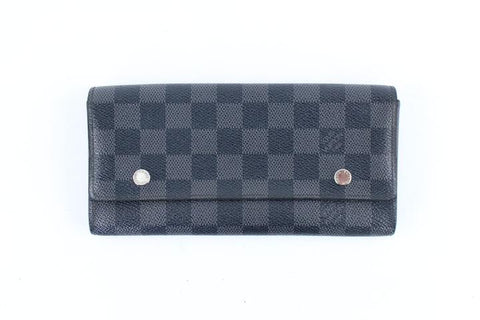 Louis Vuitton Damier Graphite Long Flap Wallet 225063