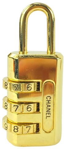 Louis Vuitton Ultra Rare Gold Combination Lock CC 33CCL1125