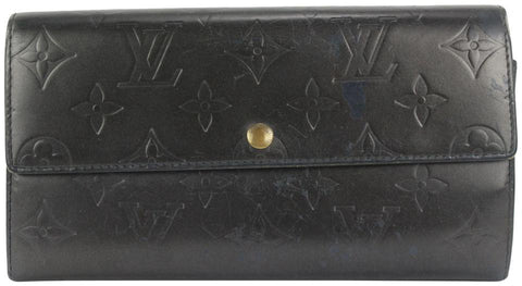 Louis Vuitton Grey Monogram Vernis Sarah Wallet Porte Tresor 3lvs111