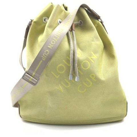 Louis Vuitton Green Damier Geant Volunteer Drawstring Hobo Bag 862274