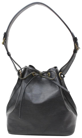 Louis Vuitton Noir Epi Leather Black  Petit Noe Hobo Bag 867337