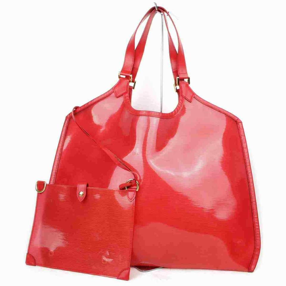Louis Vuitton Red Epi Plage Lagoon Bay with Pouch Beach Tote 872946
