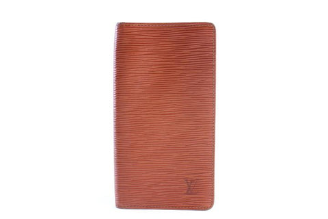 Louis Vuitton Brown Epi Long Bifold Wallet 9LR0618