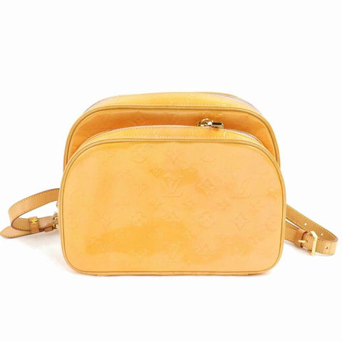 Louis Vuitton Murray Salmon Mini 870923 Yellow Monogram Vernis Leather Backpack