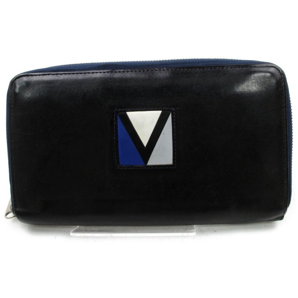 Louis Vuitton LV Cup Long Zippy Organizer Wallet Navy Blue Leather Gaston V 872734