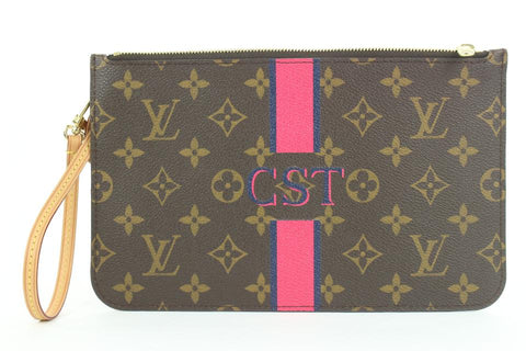 Louis Vuitton  Ultra Rare Mon Monogram Neverfull Pochette MM or GM  8lvs111