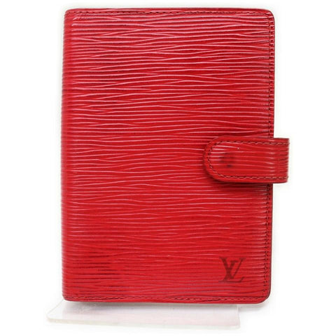 Louis Vuitton Red Epi Leather Small Ring Agenda PM Diary Cover  862352