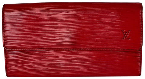 Louis Vuitton Red Epi Leather Sarah Long Wallet 7lav60